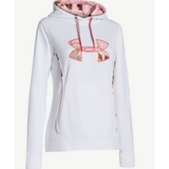 Under Armour Tops - UNDER ARMOUR STORM  PINK CAMO HOODIE